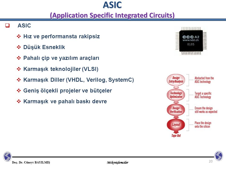 ASIC (Application Specific Integrated Circuits)