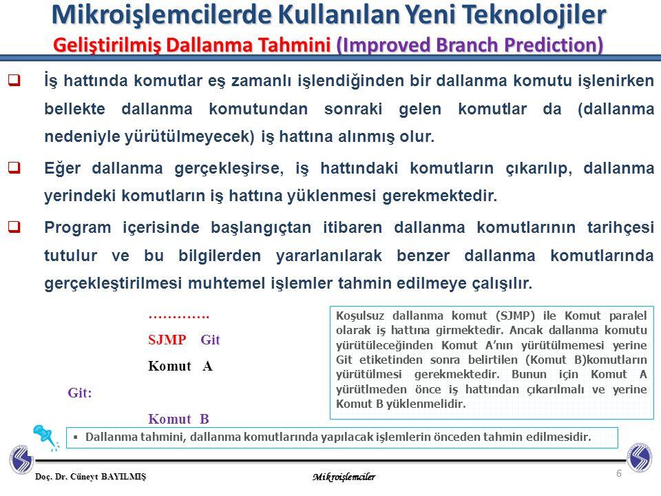 Mikroişlemcilerde Kullanılan Yeni Teknolojiler Geliştirilmiş Dallanma Tahmini (Improved Branch Prediction)