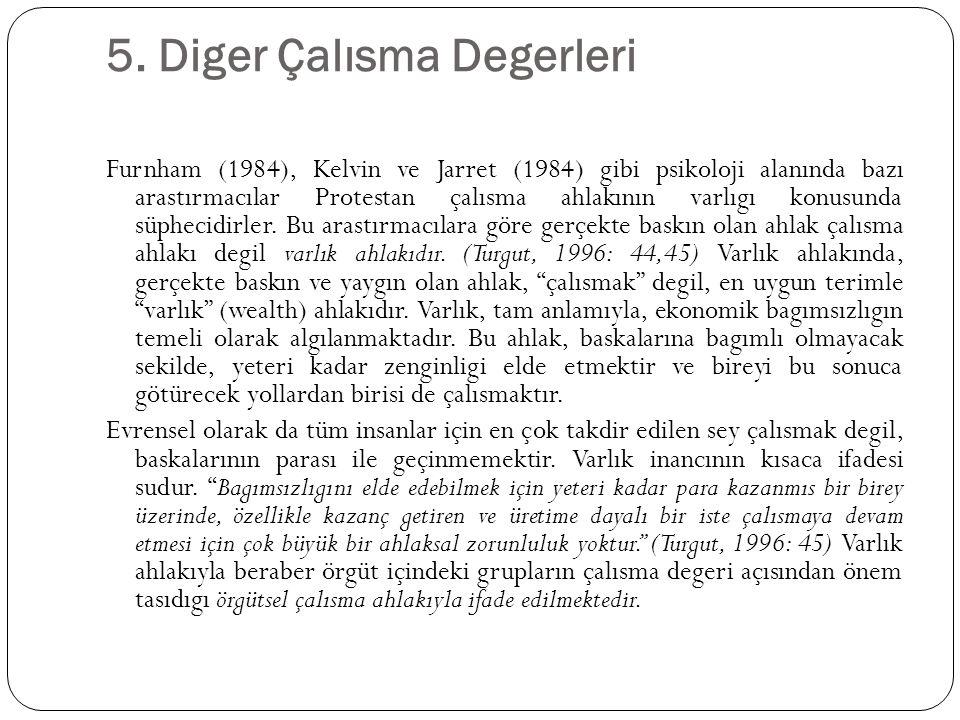 5. Diger Çalısma Degerleri