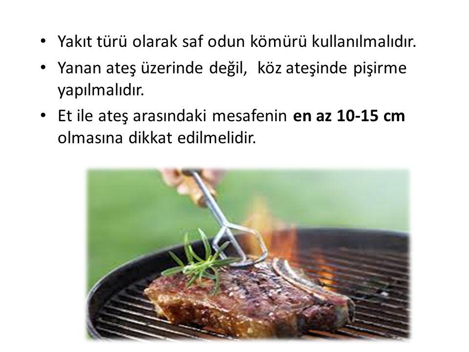 Yakıt türü olarak saf odun kömürü kullanılmalıdır.