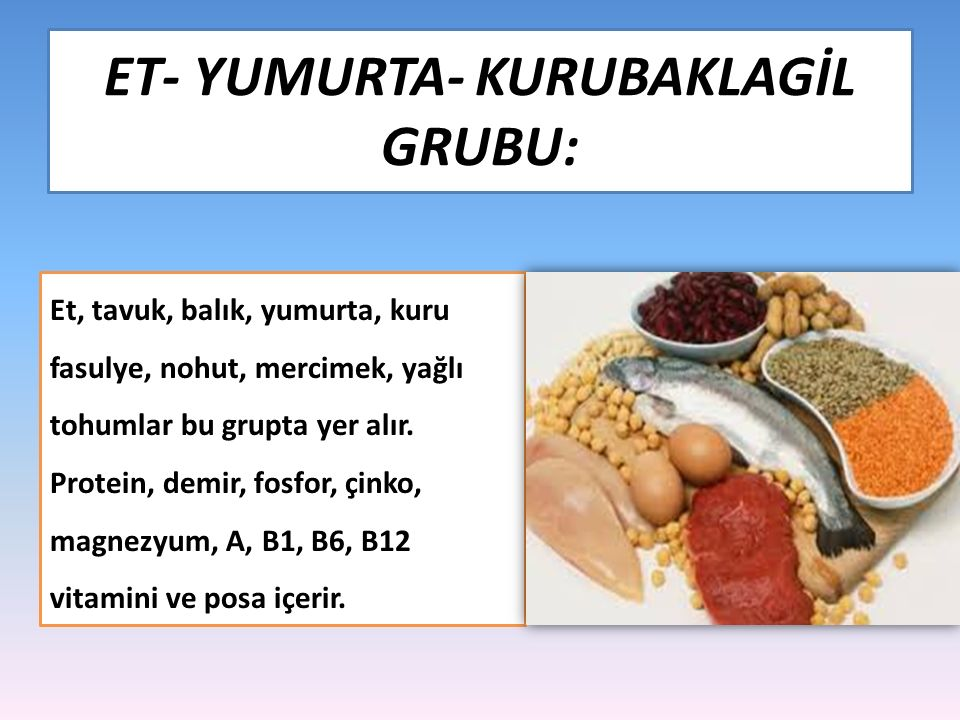 ET- YUMURTA- KURUBAKLAGİL GRUBU: