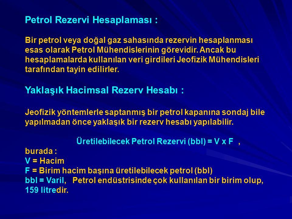 Petrol Rezervi Hesaplaması :