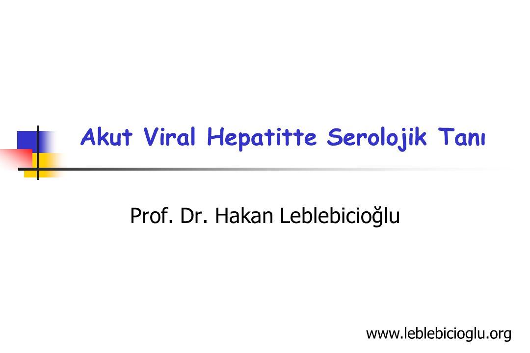 Akut Viral Hepatitte Serolojik Tanı