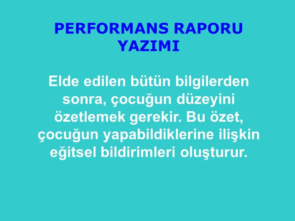 PERFORMANS RAPORU YAZIMI