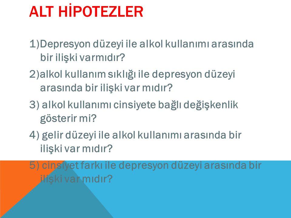 ALT HİPOTEZLER