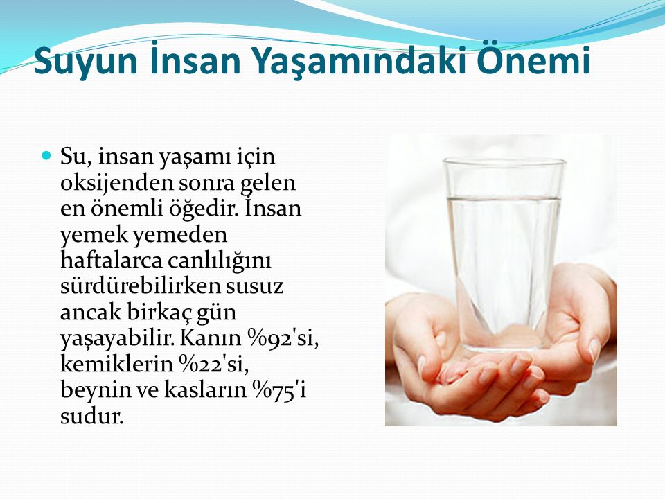 Suyun İnsan Yaşamındaki Önemi