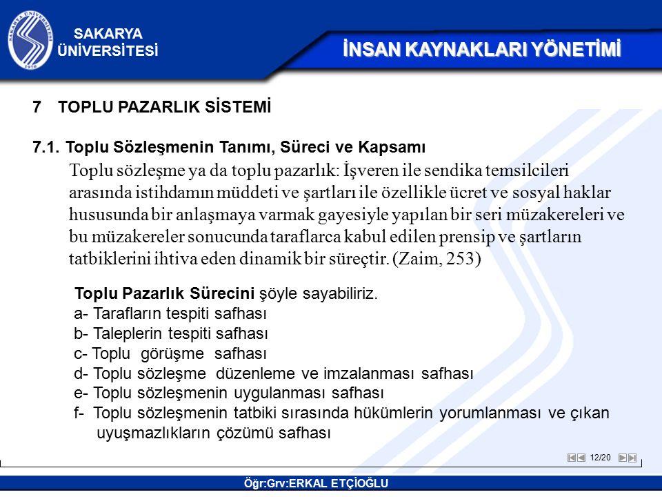 TOPLU PAZARLIK SİSTEMİ