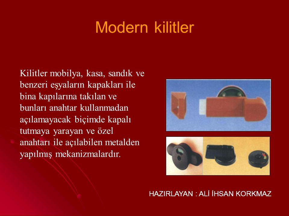 Modern kilitler