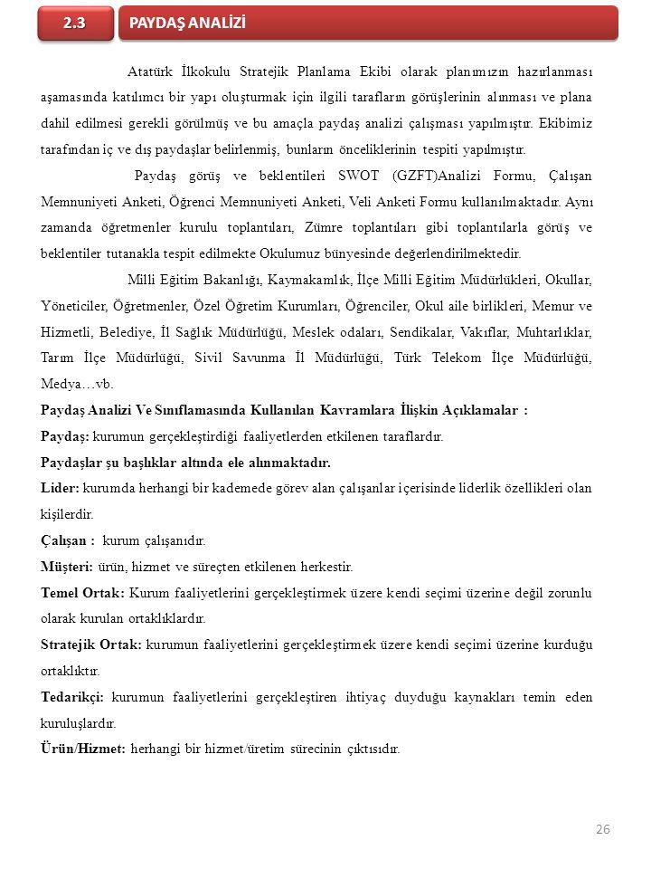 PAYDAŞ ANALİZİ 2.3.