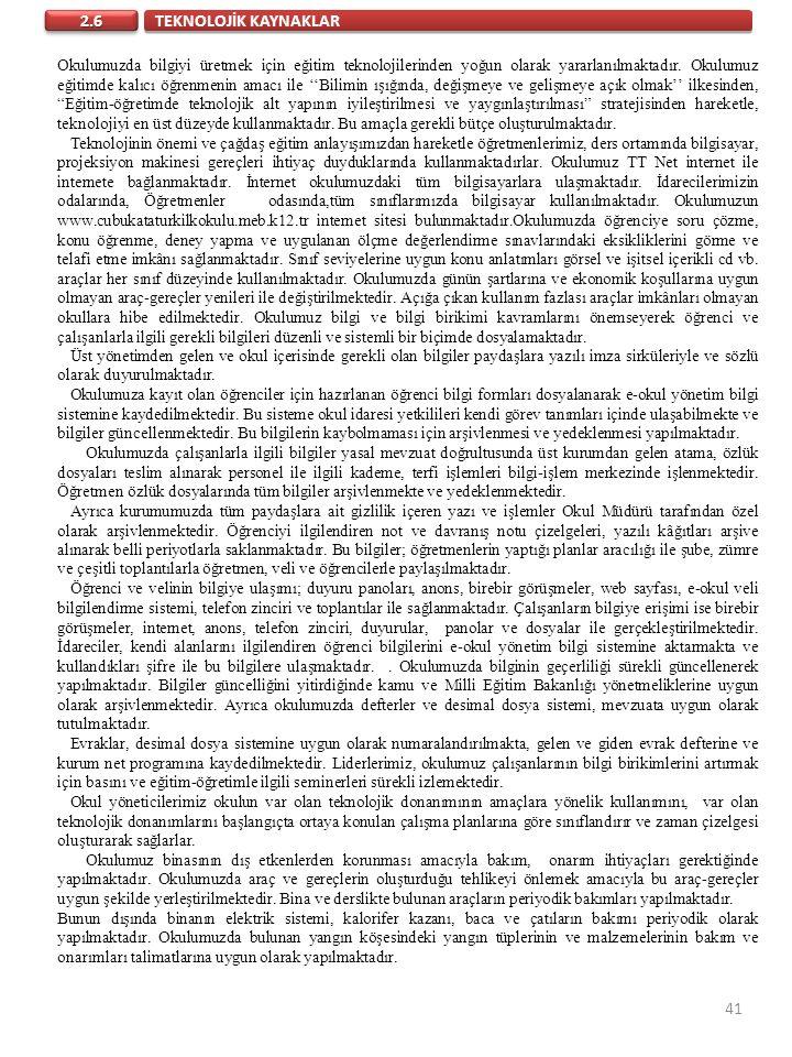 TEKNOLOJİK KAYNAKLAR 2.6.