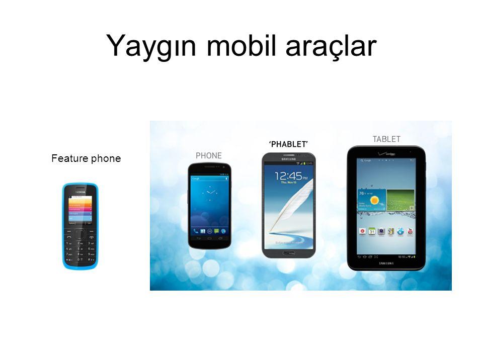 Yaygın mobil araçlar Feature phone