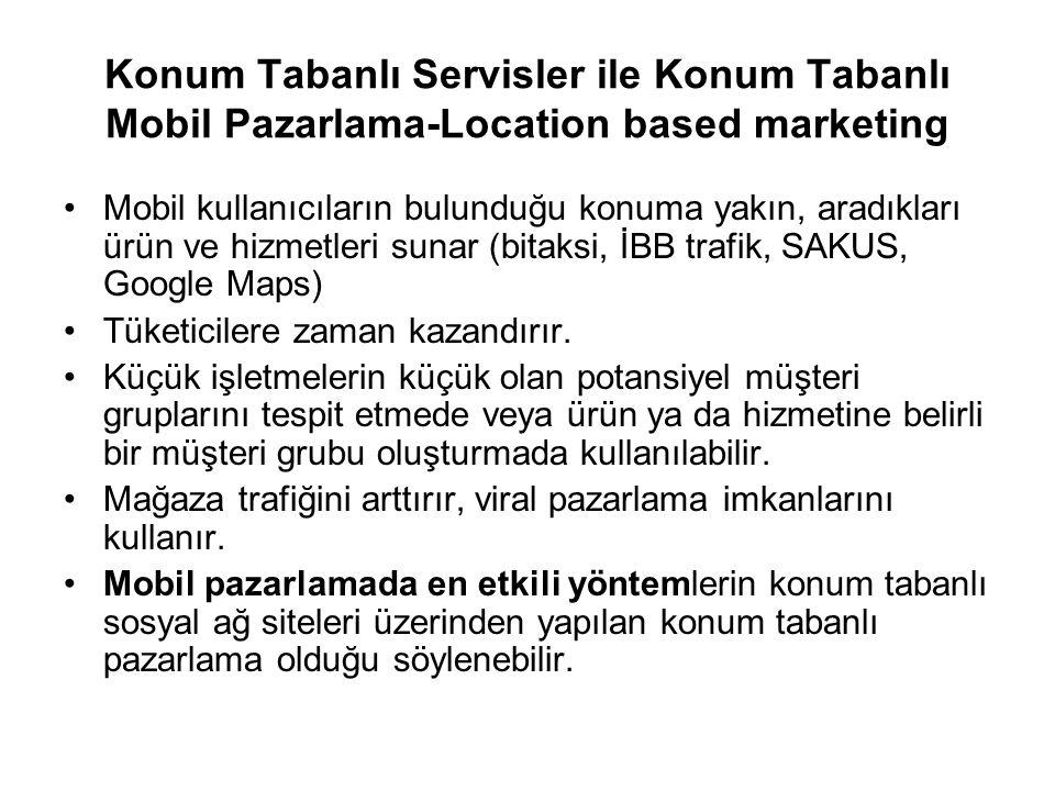 Konum Tabanlı Servisler ile Konum Tabanlı Mobil Pazarlama-Location based marketing