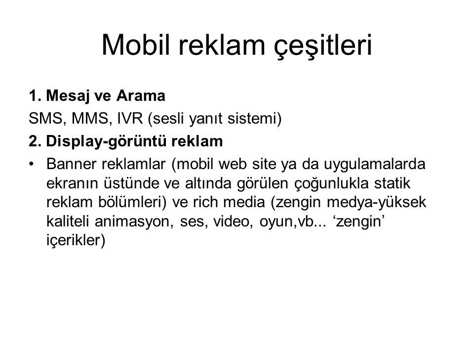 Mobil reklam çeşitleri
