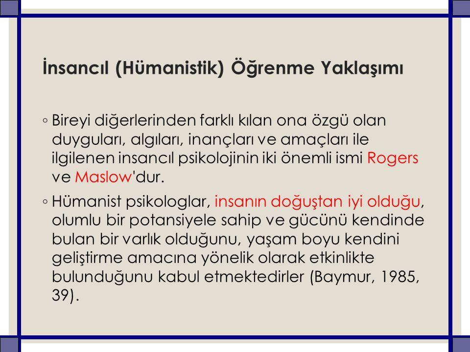 İnsancıl (Hümanistik) Öğrenme Yaklaşımı