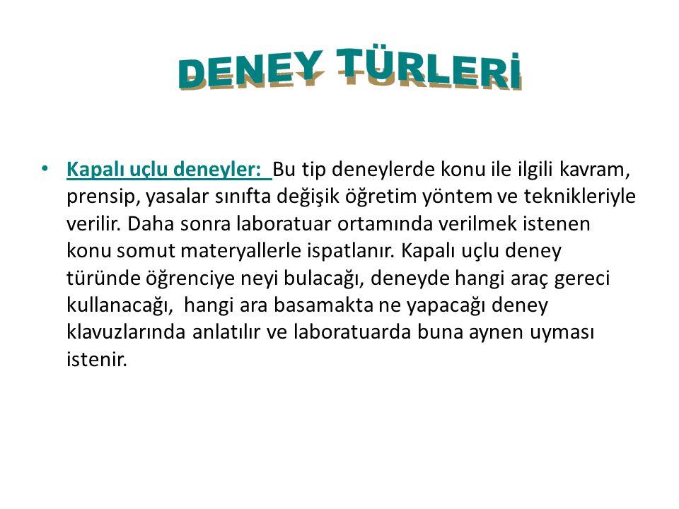 DENEY TÜRLERİ