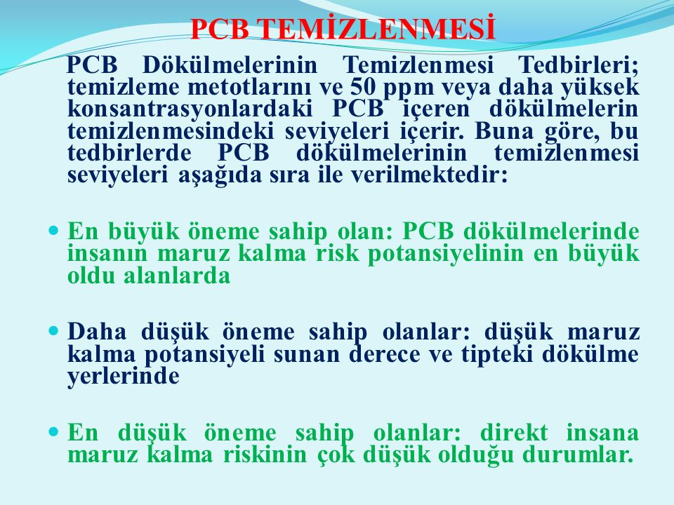 PCB TEMİZLENMESİ