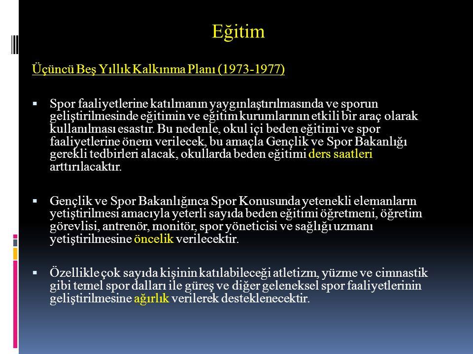 Eğitim Üçüncü Beş Yıllık Kalkınma Planı (1973-1977)