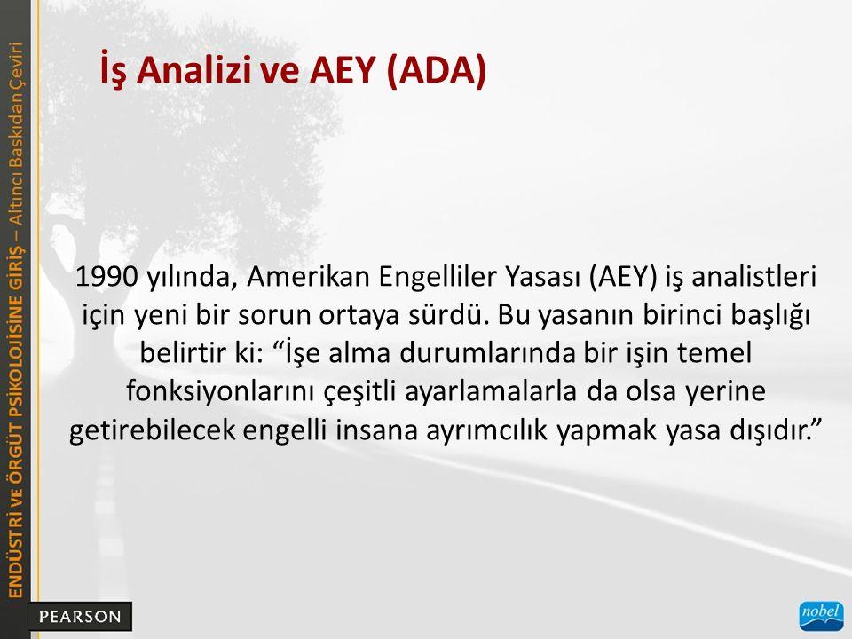 İş Analizi ve AEY (ADA)