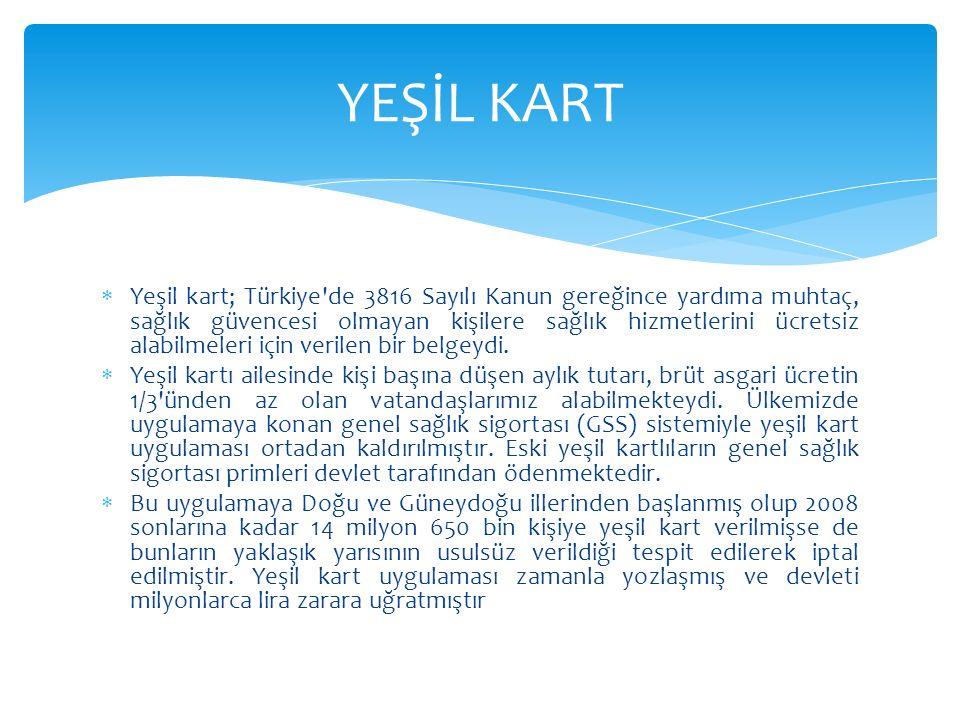 YEŞİL KART