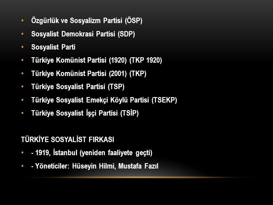 Özgürlük ve Sosyalizm Partisi (ÖSP)