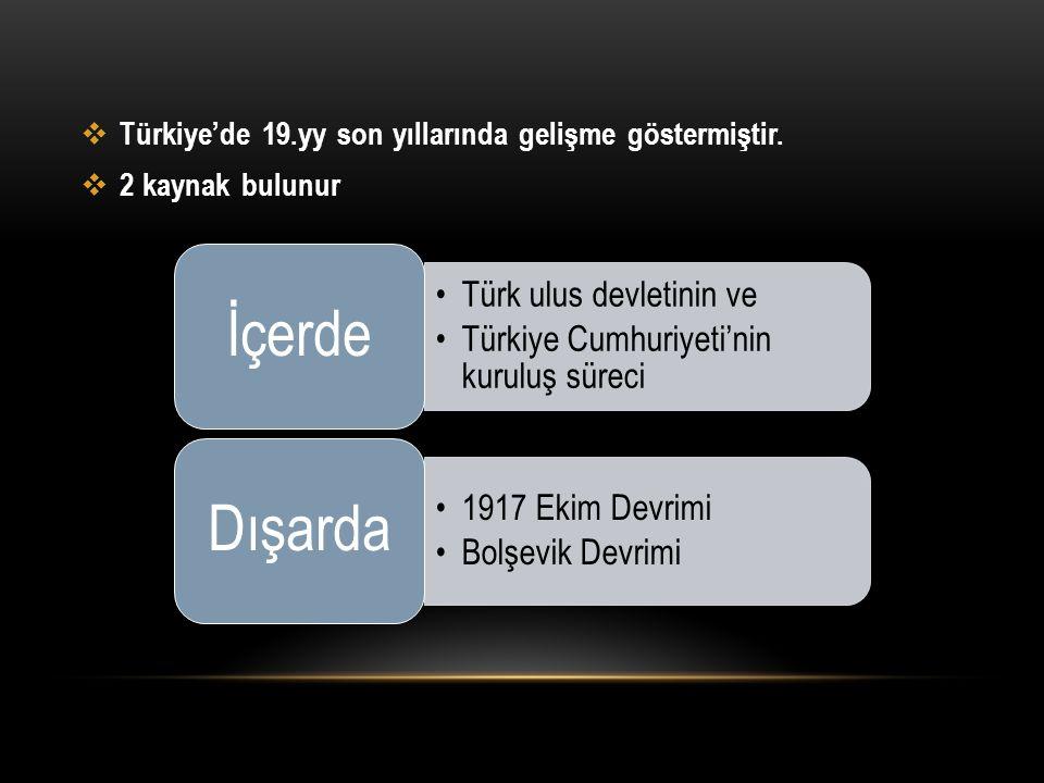 İçerde Dışarda Türk ulus devletinin ve