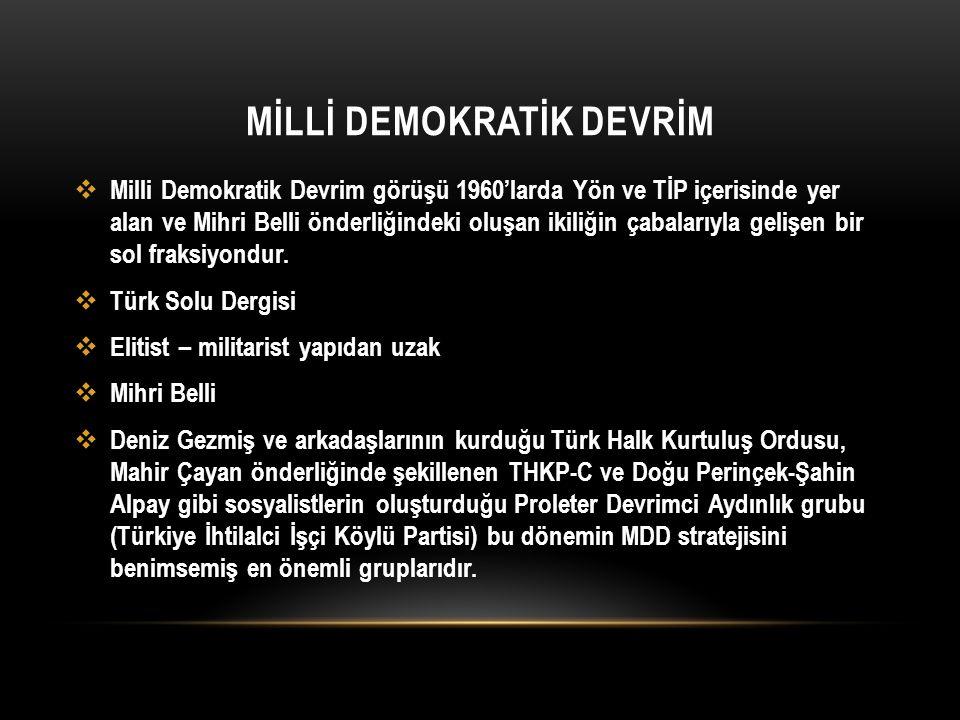 MİLLİ DEMOKRATİK DEVRİM