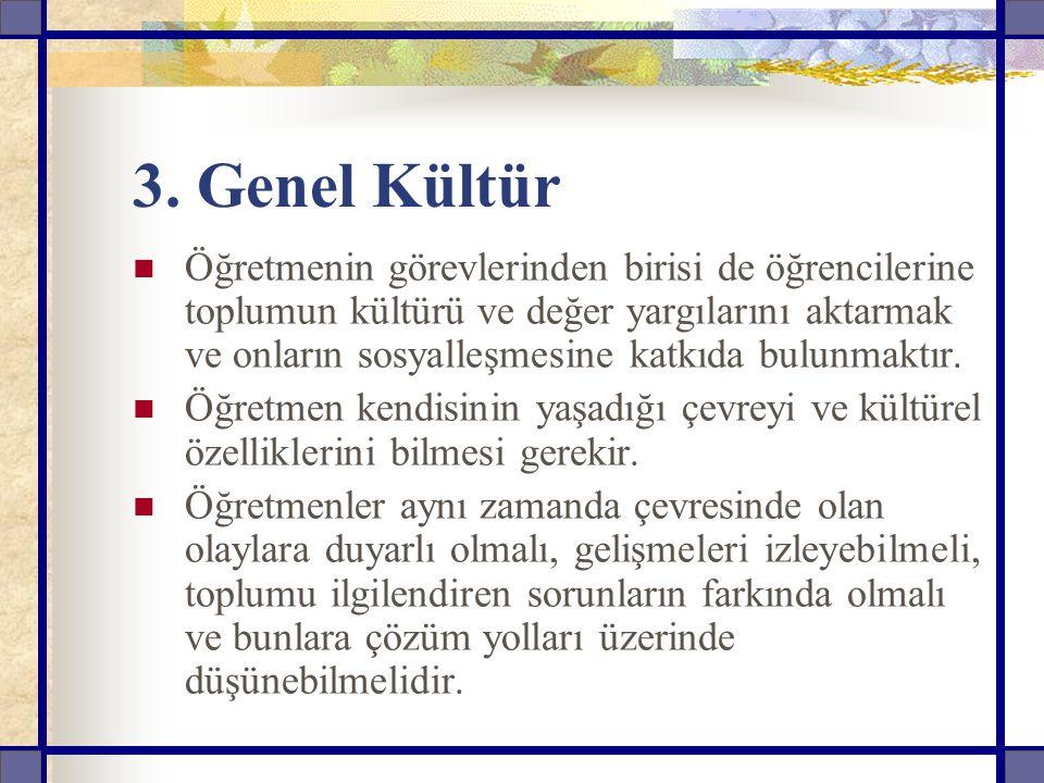 3. Genel Kültür