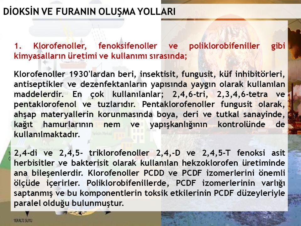 DİOKSİN VE FURANIN OLUŞMA YOLLARI