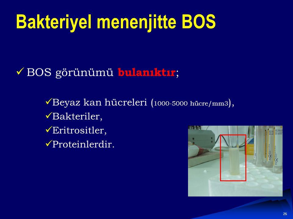 Bakteriyel menenjitte BOS