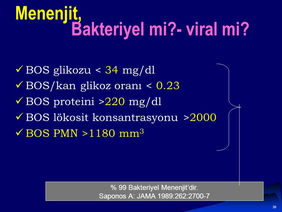 Menenjit, Bakteriyel mi - viral mi