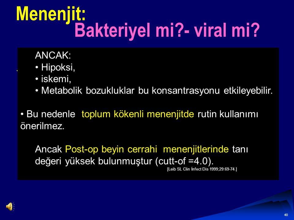 Menenjit: Bakteriyel mi - viral mi