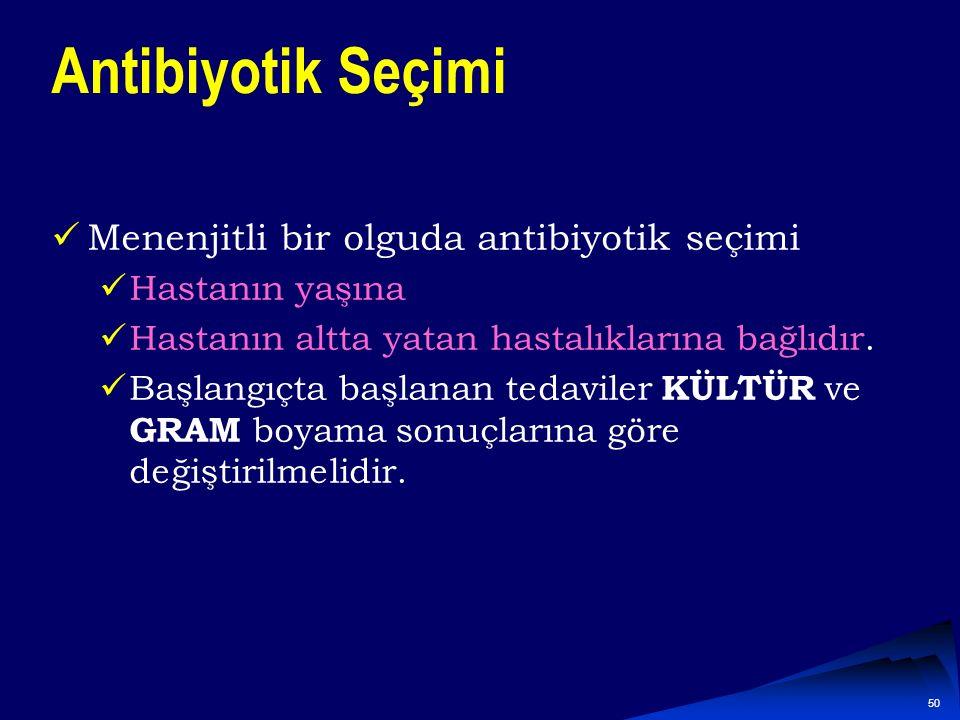 Antibiyotik Seçimi Menenjitli bir olguda antibiyotik seçimi