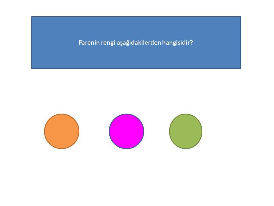 Farenin rengi aşağıdakilerden hangisidir