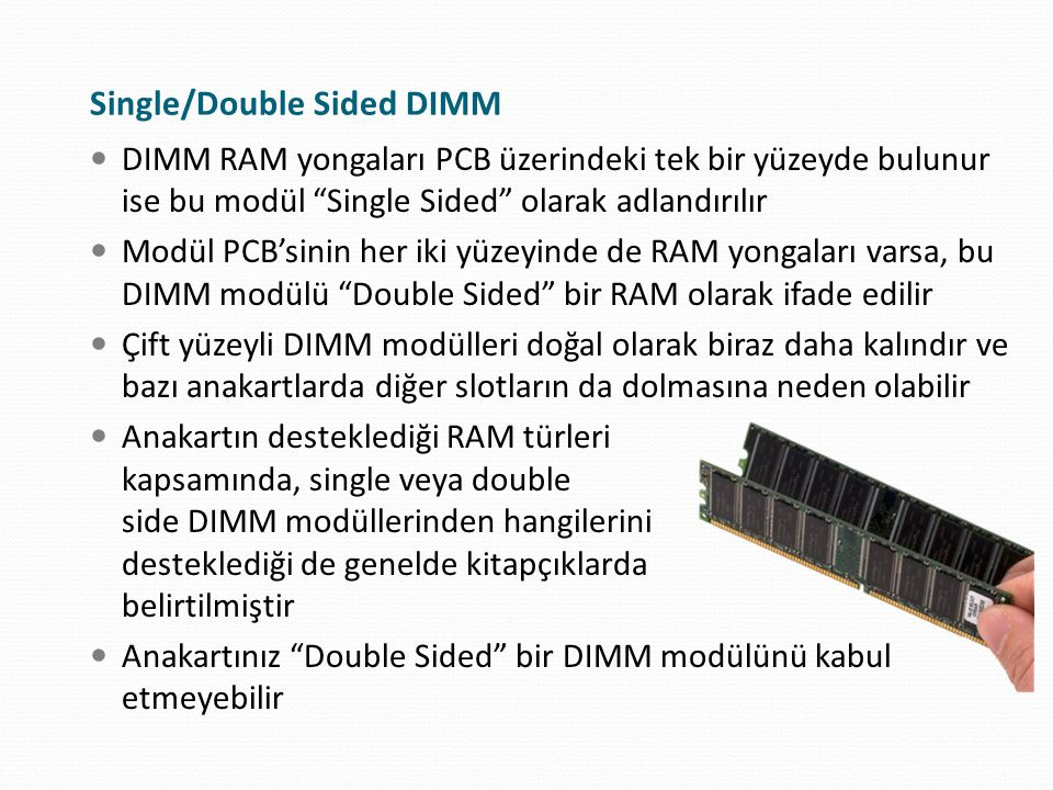Single/Double Sided DIMM