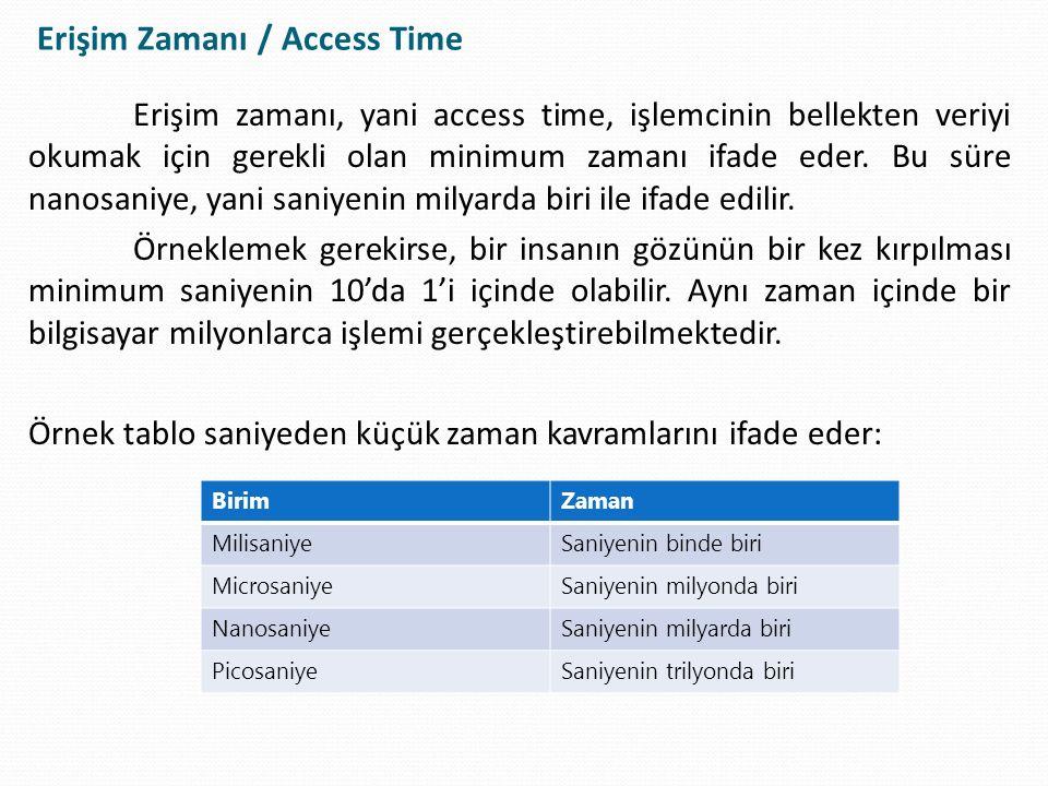 Erişim Zamanı / Access Time
