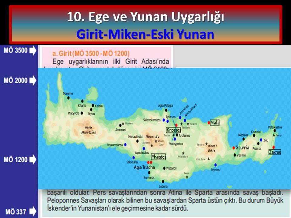 Girit-Miken-Eski Yunan