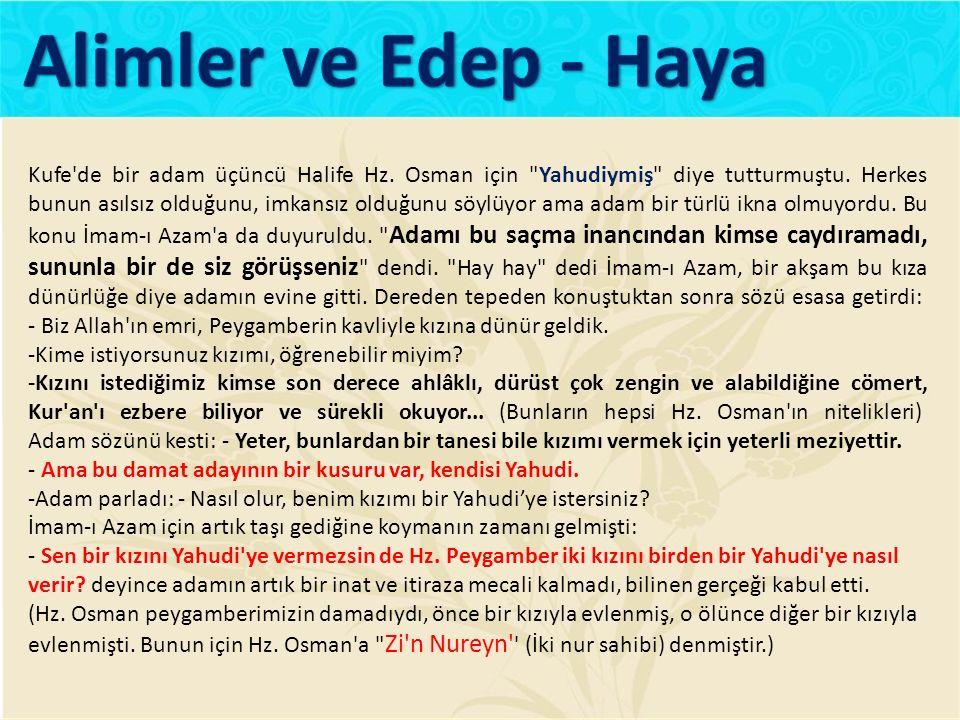 Alimler ve Edep - Haya