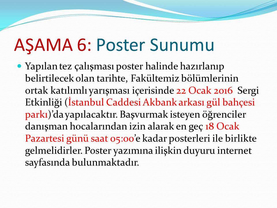 AŞAMA 6: Poster Sunumu