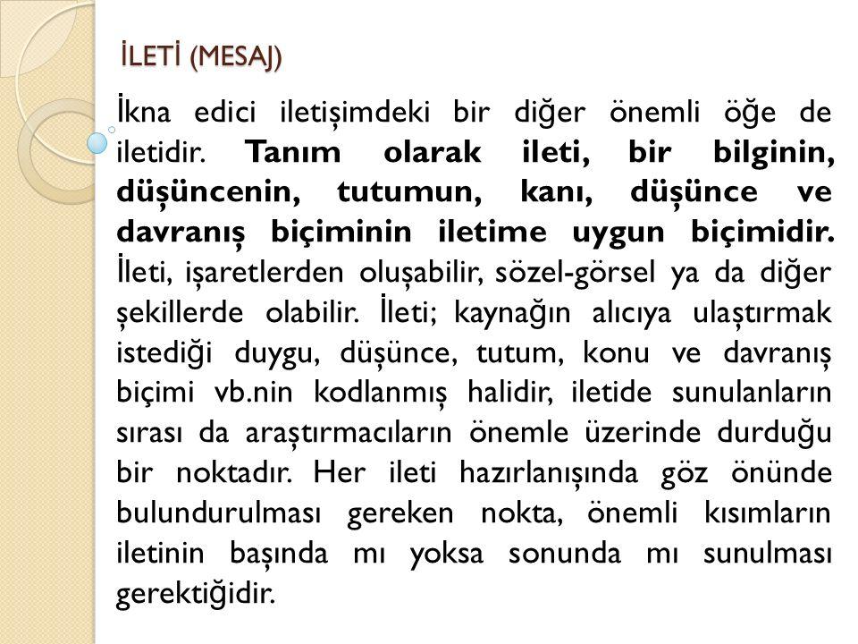 İLETİ (MESAJ)