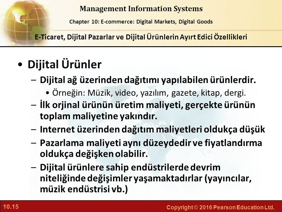 Dijital Ürünler Dijital ağ üzerinden dağıtımı yapılabilen ürünlerdir.