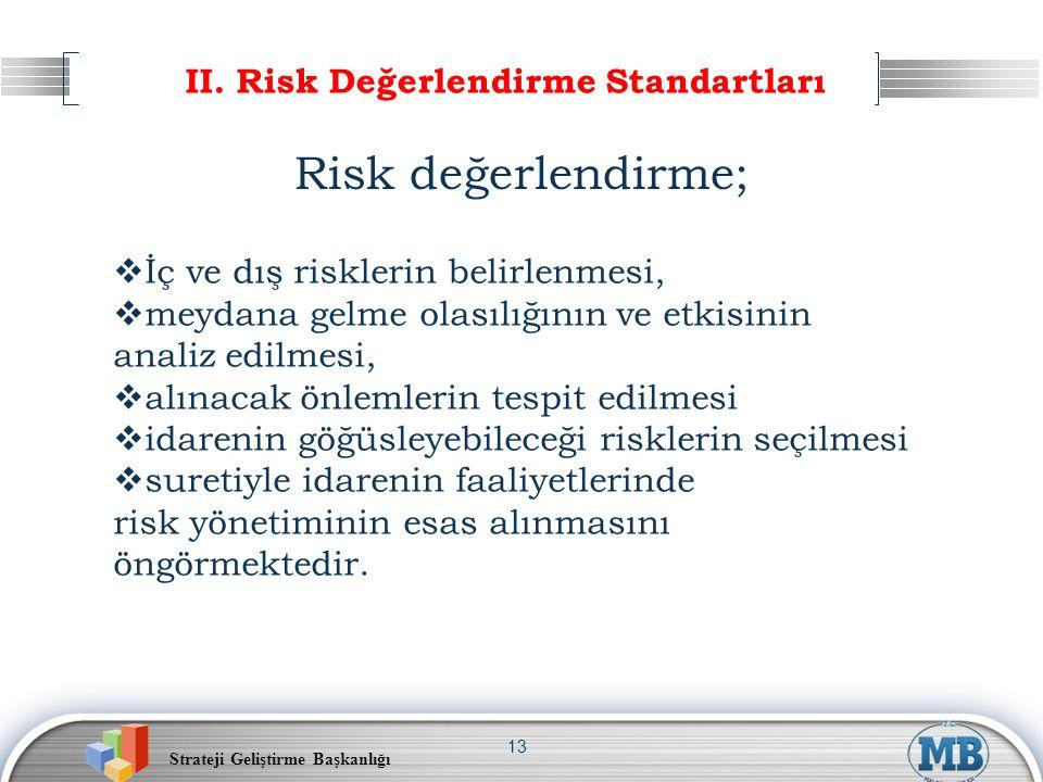 II. Risk Değerlendirme Standartları