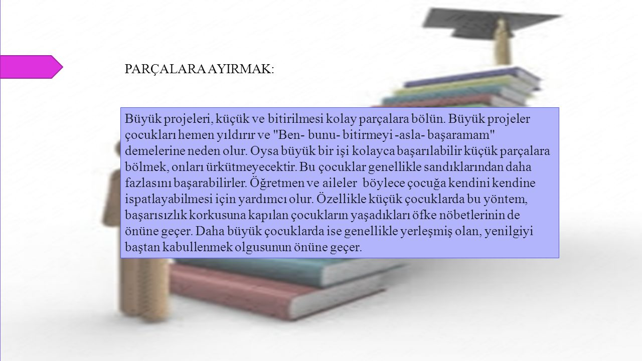 PARÇALARA AYIRMAK: