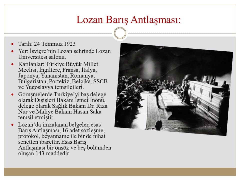 Lozan Barış Antlaşması: