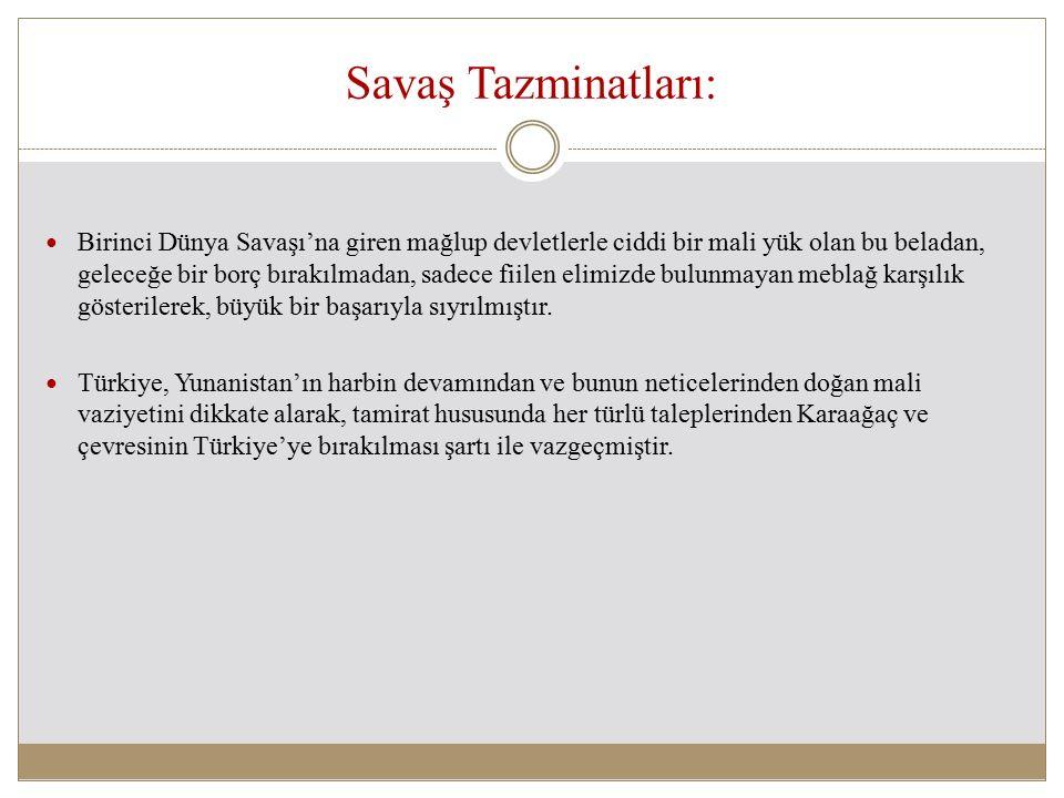 Savaş Tazminatları: