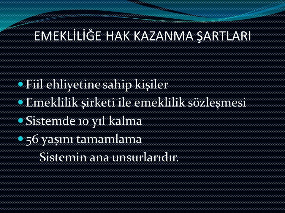 EMEKLİLİĞE HAK KAZANMA ŞARTLARI