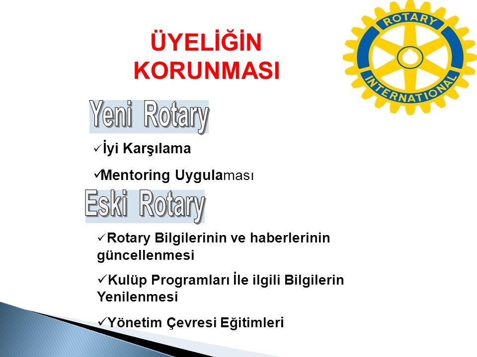 ÜYELİĞİN KORUNMASI Yeni Rotary Eski Rotary