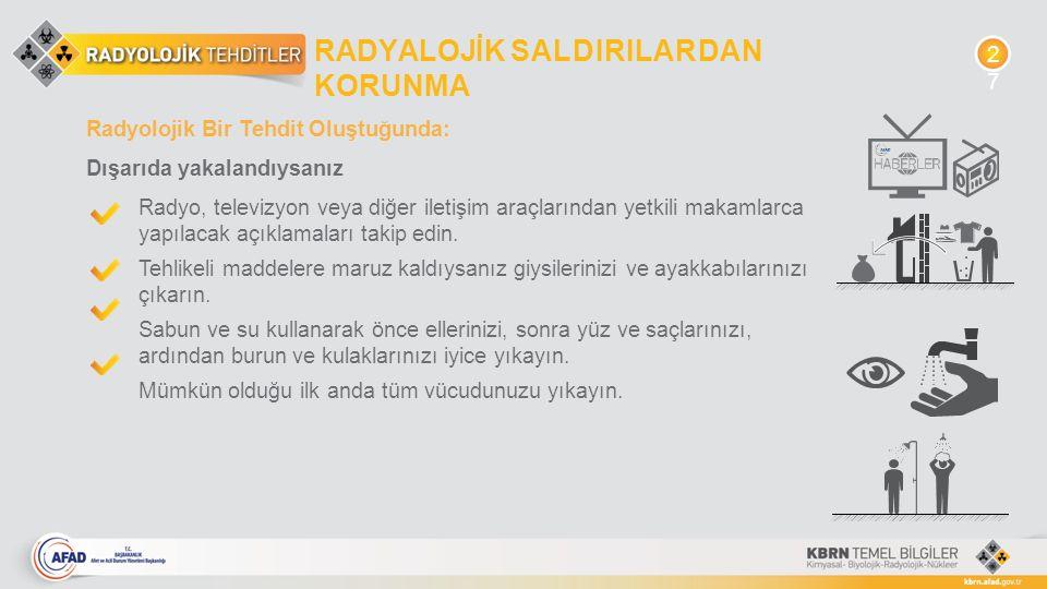 RADYALOJİK SALDIRILARDAN KORUNMA