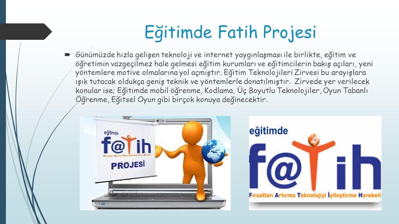 Eğitimde Fatih Projesi
