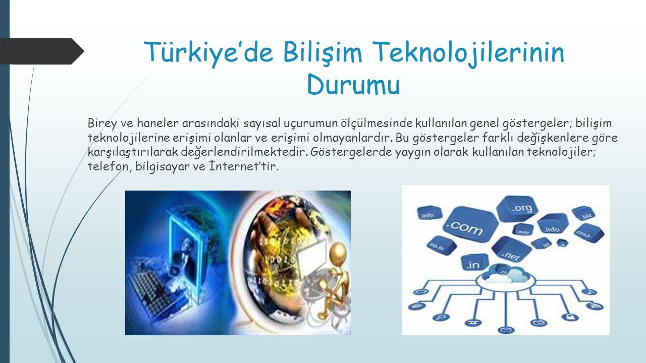 Türkiye'de Bilişim Teknolojilerinin Durumu