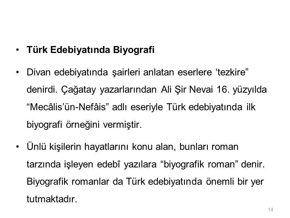 Türk Edebiyatında Biyografi